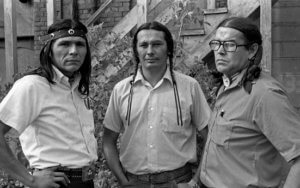 Dennis Banks, Russell Means, and Clyde Bellecourt in 1971 the Heart of AIM