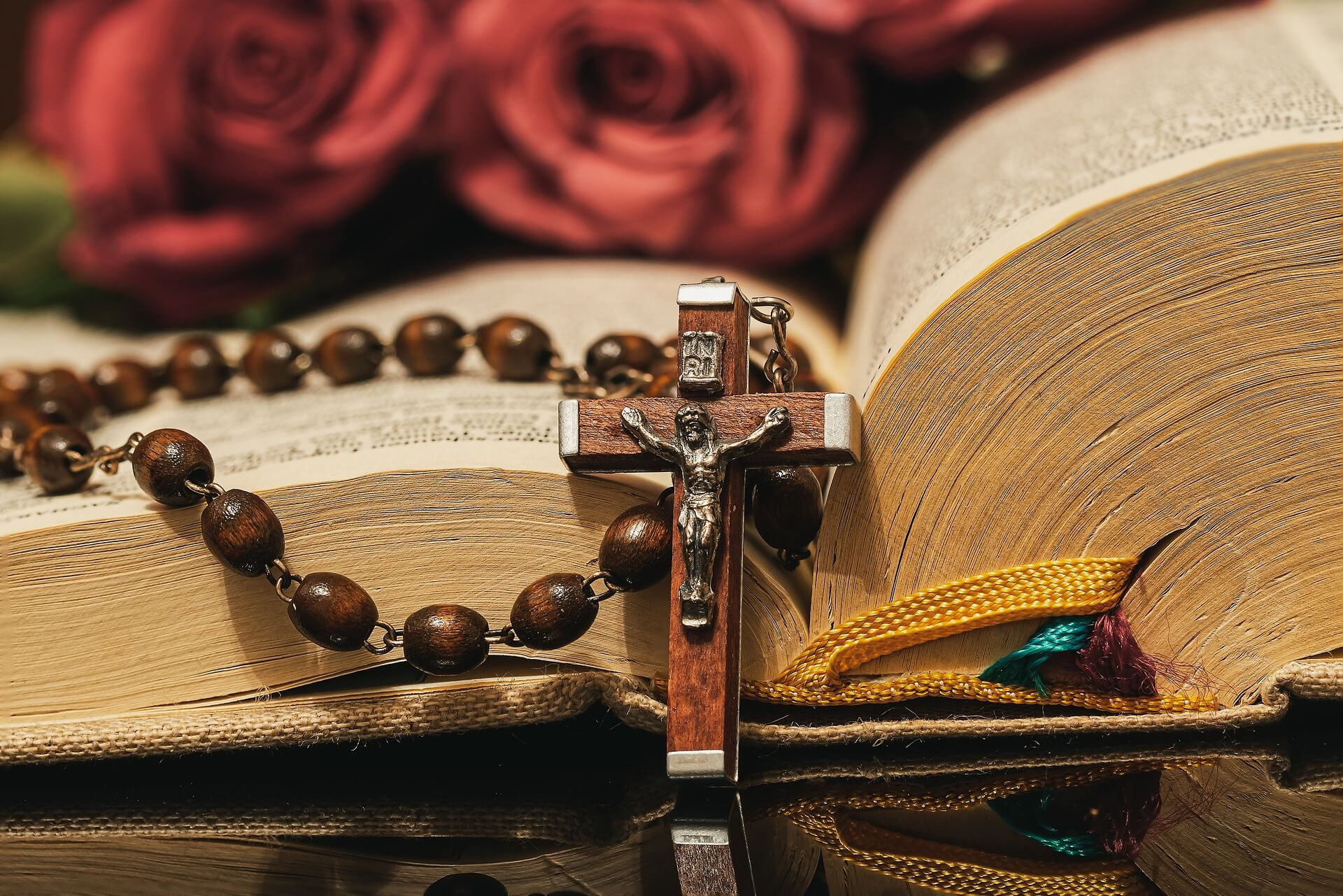 The Bible and rosary