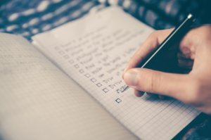 Creating lists and setting goals is a typically American mind set.